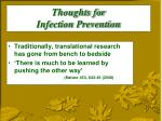 thoughts for infection prevention