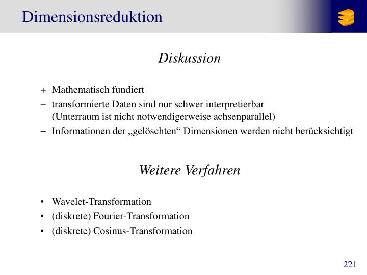 Dimensionsreduktion