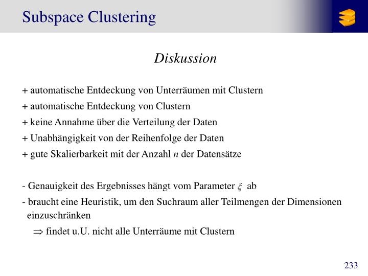 Subspace Clustering