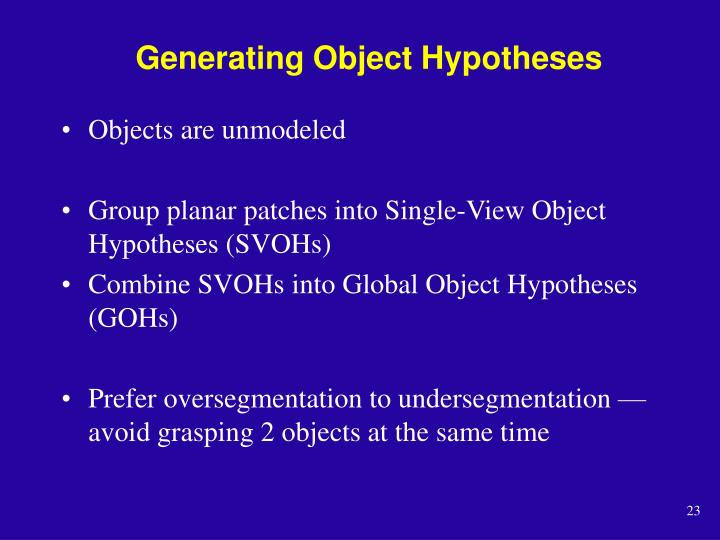 Generating Object Hypotheses