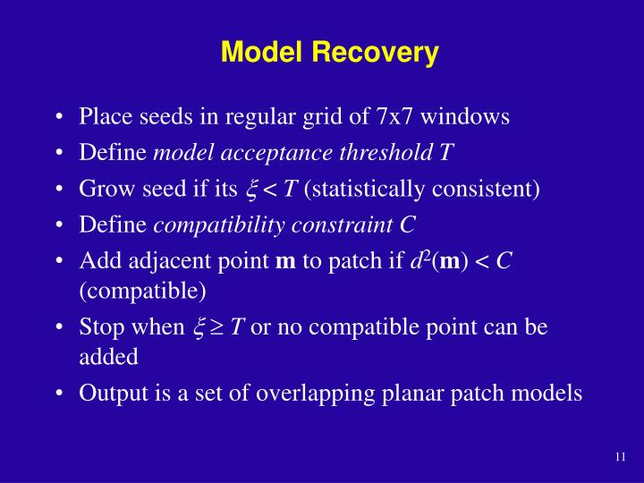 Model Recovery