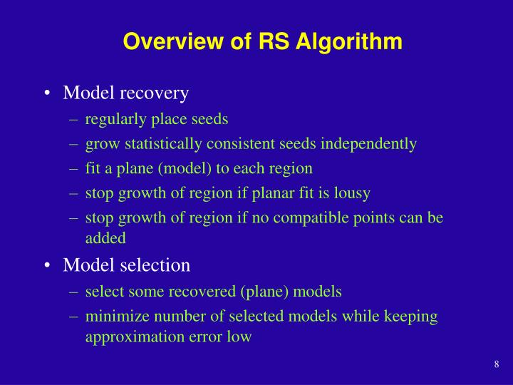 Overview of RS Algorithm