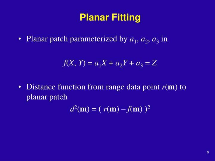 Planar Fitting