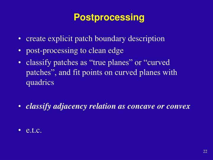 Postprocessing