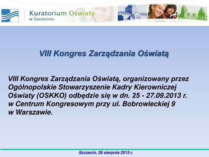 VIII Kongres Zarządzania Oświatą