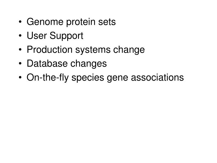 Genome protein sets