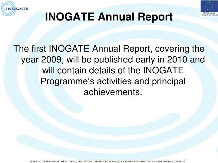 INOGATE Annual Report
