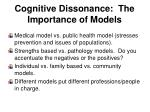 cognitive dissonance the importance of models