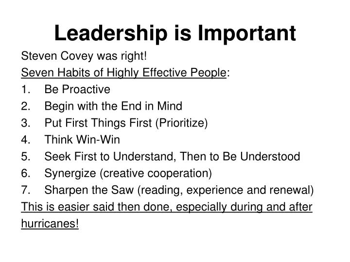 Leadership is Important