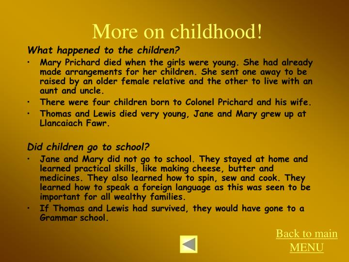 More on childhood!
