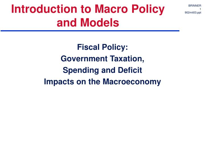 introduction to fiscal policy essays Read fiscal policy free essay and over 87,000 other research documents fiscal policy fiscal policy by zina s elais student no8311 managerial economics (econ 601.
