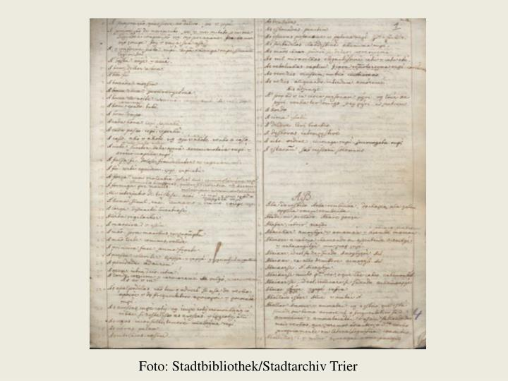 Foto: Stadtbibliothek/Stadtarchiv Trier