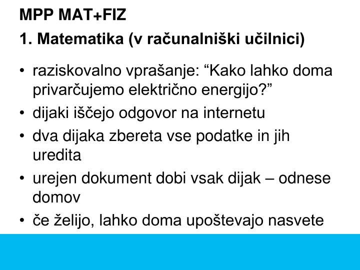 MPP MAT+FIZ