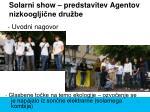 solarni show predstavitev agentov nizkooglji ne dru be