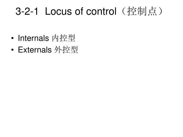 3-2-1  Locus of control
