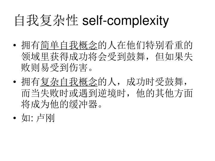 自我复杂性