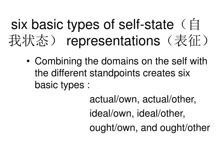 six basic types of self-state