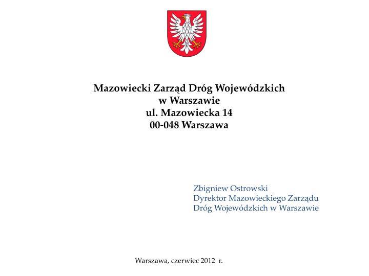 Mazowiecki Zarząd Dróg Wojewódzkich