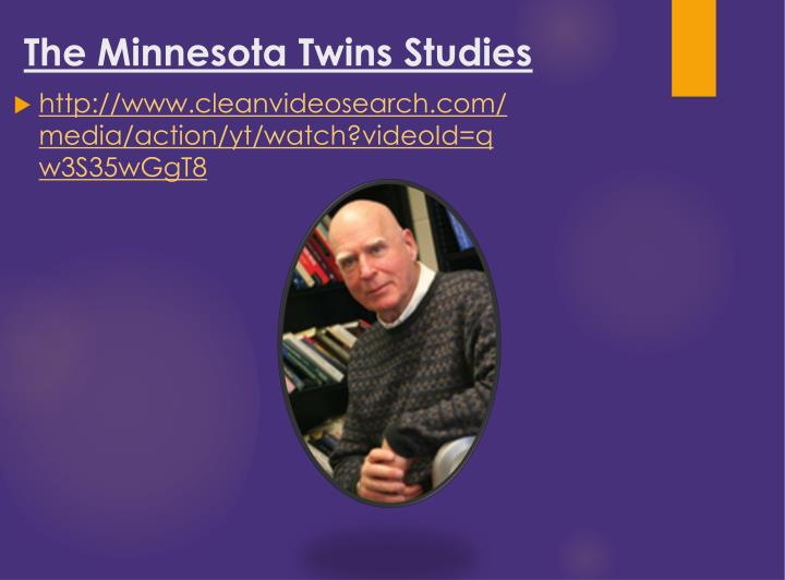 The Minnesota Twins Studies