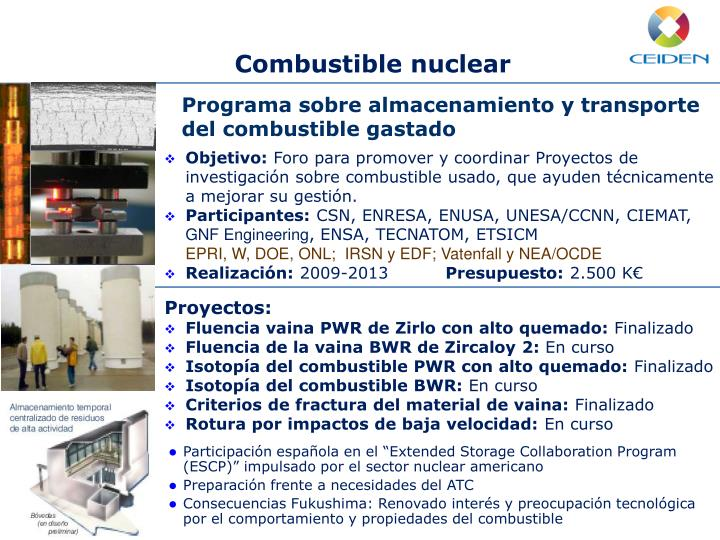 Combustible nuclear