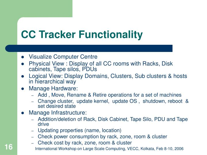 CC Tracker Functionality