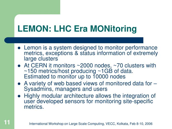 LEMON: LHC Era MONitoring