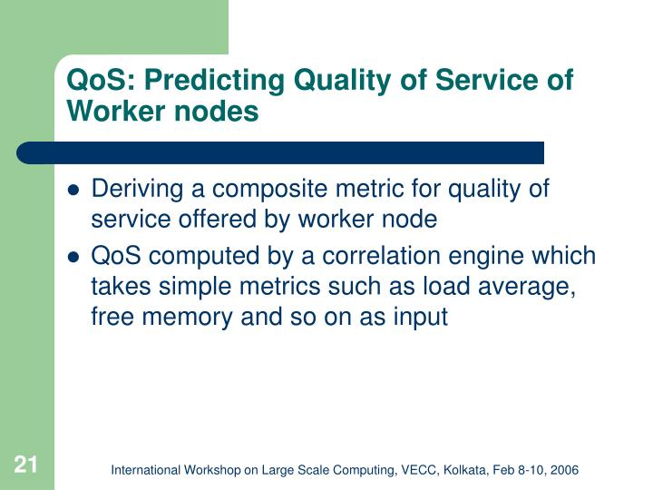 QoS: Predicting Quality of Service of Worker nodes