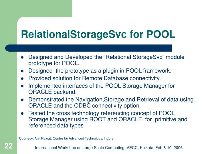 RelationalStorageSvc for POOL