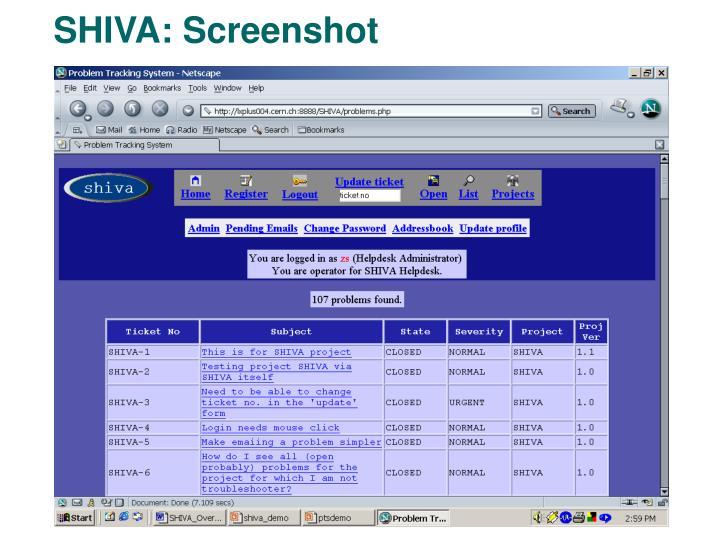 SHIVA: Screenshot