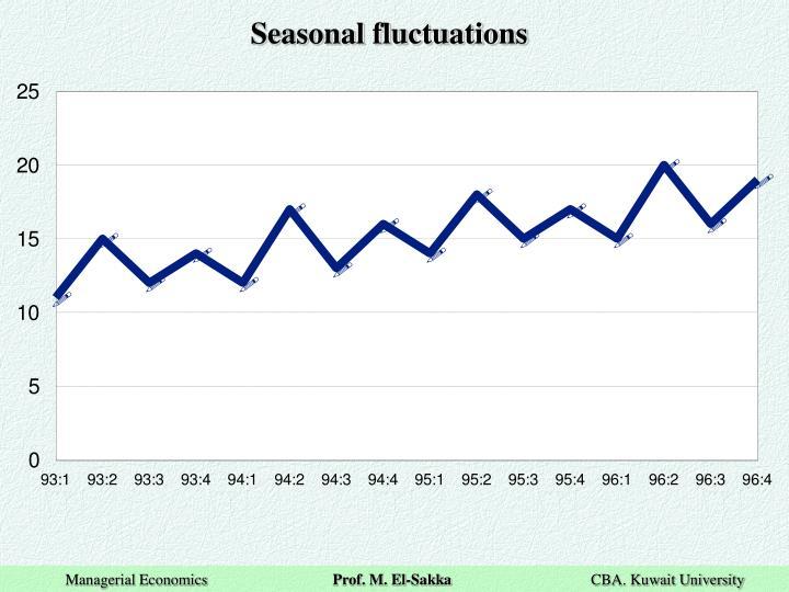 Seasonal fluctuations