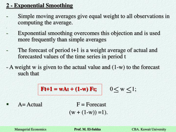 2 - Exponential Smoothing