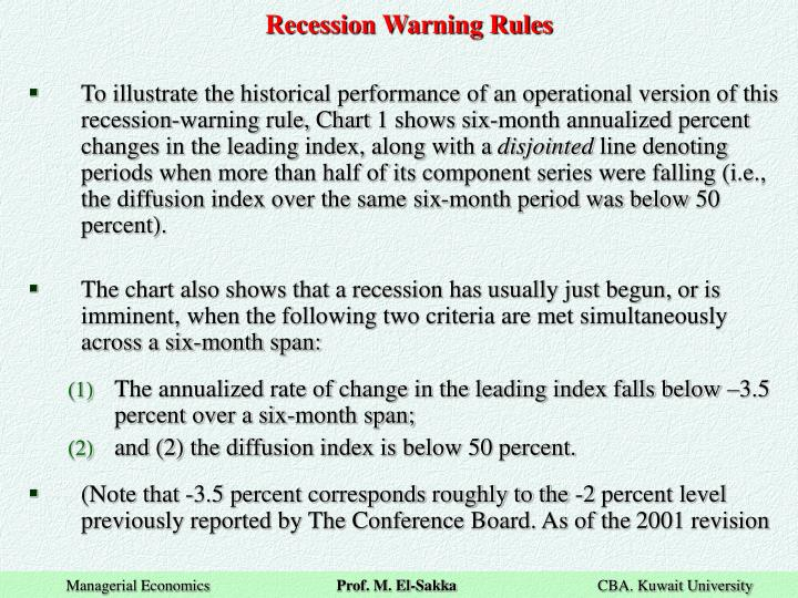 Recession Warning Rules
