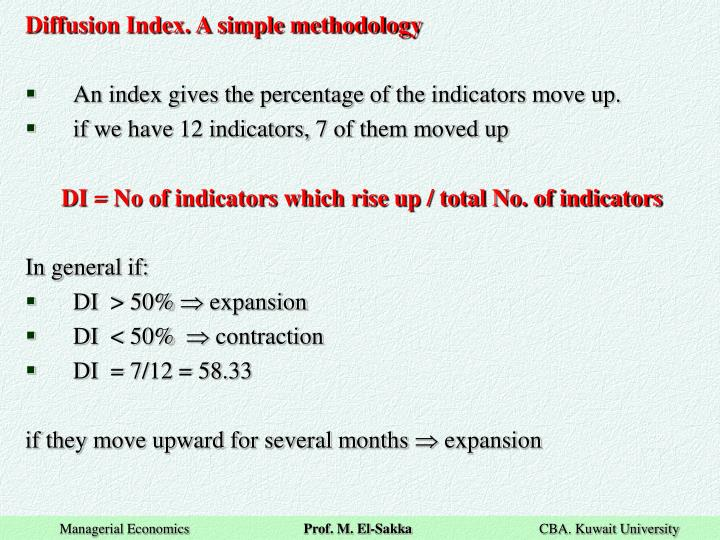 Diffusion Index. A simple methodology