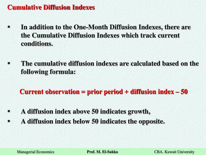 Cumulative Diffusion Indexes