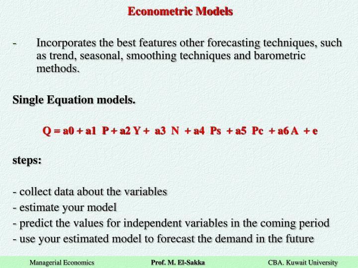 Econometric Models