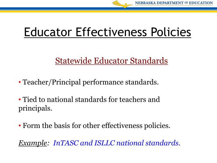 Statewide Educator Standards