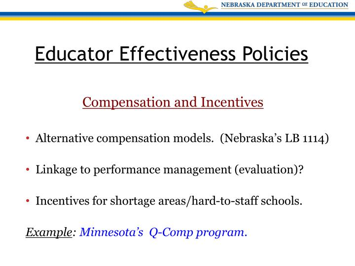 Alternative compensation models.  (Nebraska's LB 1114)