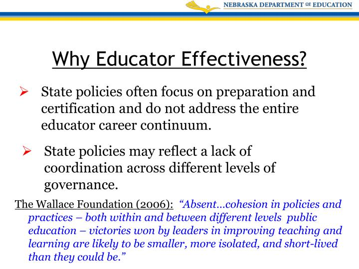 Why Educator Effectiveness?