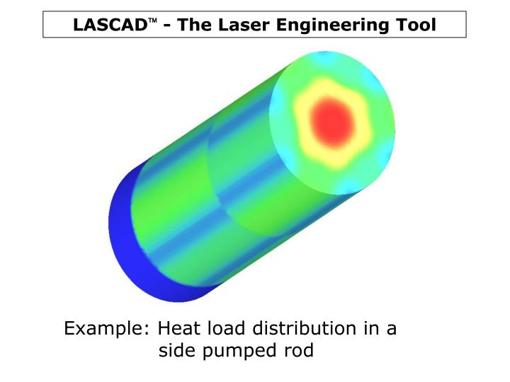 Example: Heat load distribution in a side pumped rod