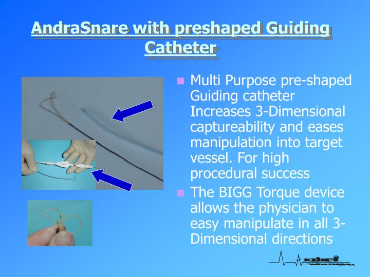 AndraSnare with preshaped Guiding Catheter