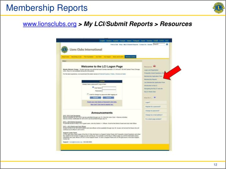 Membership Reports