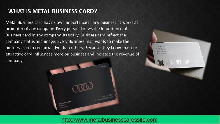 WHAT IS METAL BUSINESS CARD?