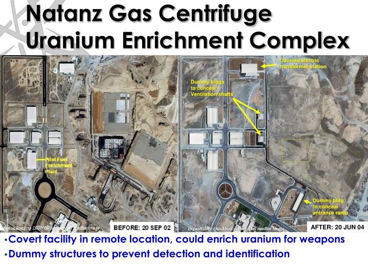 Natanz Gas Centrifuge Uranium Enrichment Complex