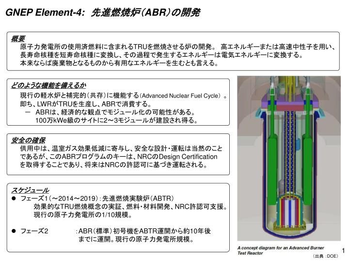 GNEP Element-4: