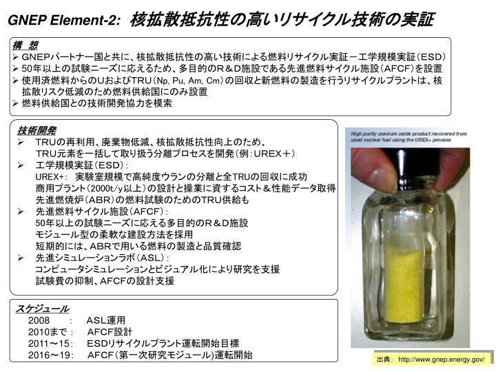 GNEP Element-2:
