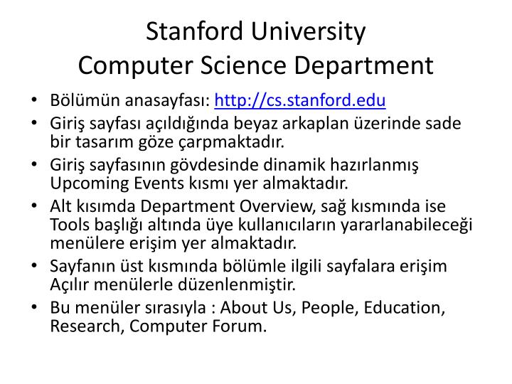 Stanford university computer science department