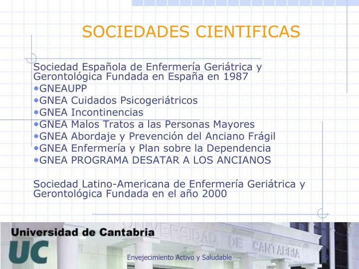 SOCIEDADES CIENTIFICAS