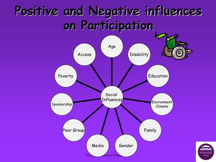 Positive and Negative influences on Participation