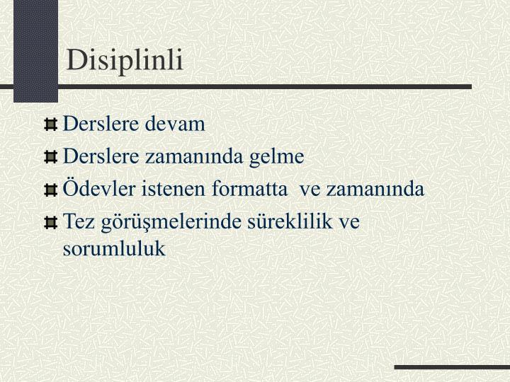 Disiplinli