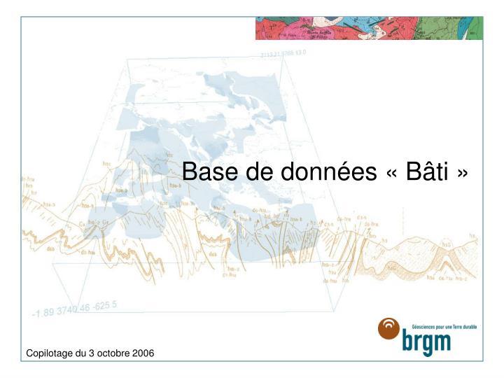 Base de données «Bâti»